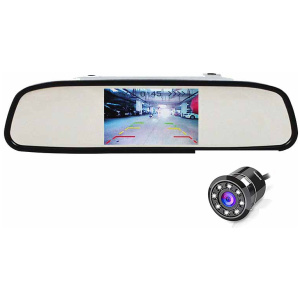 Hamaan HMPS-1117 Rear View Parking Mirror with LED camera(Universal Fit)