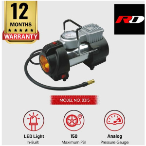 RD 0315 Car Tyre inflator with LED light