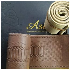 Asuse Stitch type PU leather Steering cover (Black, Beige, Tan colors)