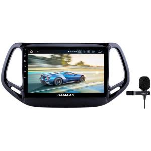 Hamaan Android Player for Jeep Compass with CANBUS wiring, 2GB RAM, 16GB/32GB Internal Memory, Screen Mirroring