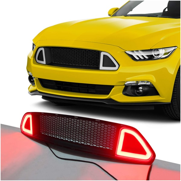 Ford Mustang RTR Honeycomb LED Grill