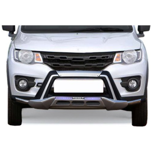 M-Tek Stainless Steel Front Bumper Guard for Renault Kwid