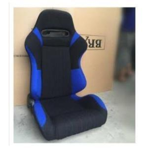 Reclinable Racing Car Seat with Slider in Black & Blue color (set of 2)