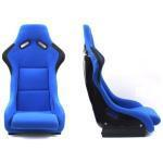 Non-Reclinable Racing Car Seat with Slider in Blue & Black color (set of 2)