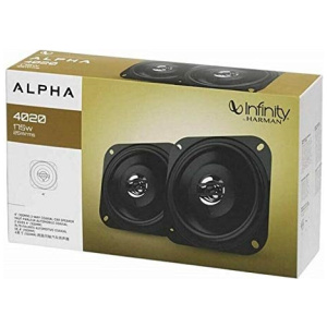 INFINITY ALPHA 4020 4 INCH 2-WAY CO-AXIAL SPEAKERS, 175W, 25W RMS