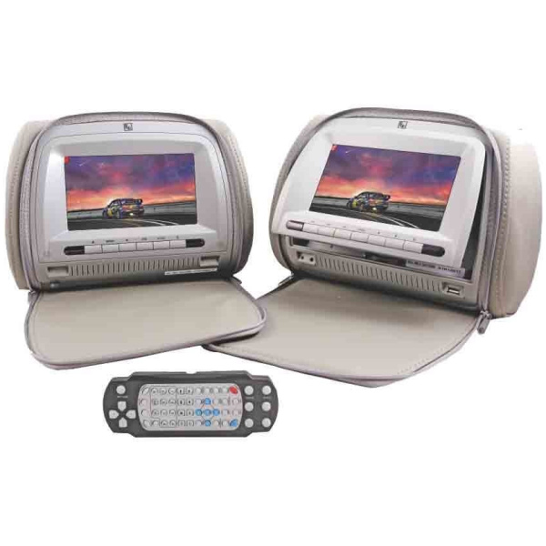 RD HRM 700Z DVD Headrest Monitor Infotainment System with Bluetooth, USB, SD card slot