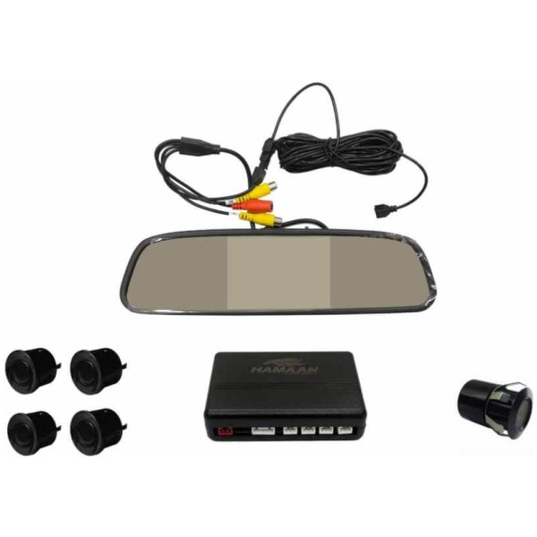 Hamaan HMPS-1111 Rear View Camera with Parking Sensors (Universal Fit)